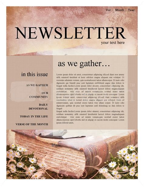 Christian Newsletter Templates 15 Free Church Newsletter Templates Ms Word Publisher Designyep