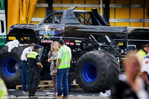 monster truck show accident dutch monster truck ploughs into audience killing two