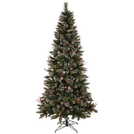 snow and berries christmas tree vickerman 7 snow tipped pine and berry artificial tree with 350 multi colored lights