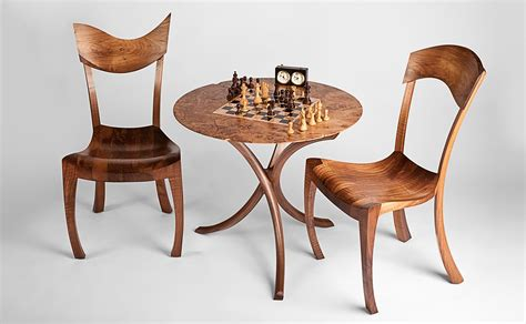 Cherry Dining Room Chairs backgammon table amp chess set fine furniture maker