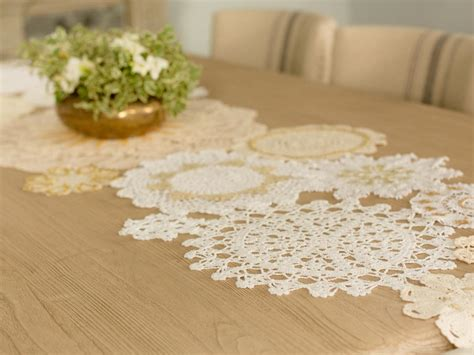 gold lace table runner diy table runner with vintage gold lace hgtv