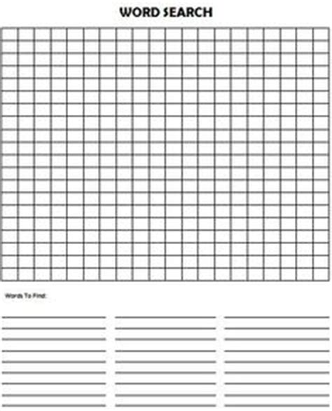empty word search grid template 6 best images of blank vocabulary word searches printable