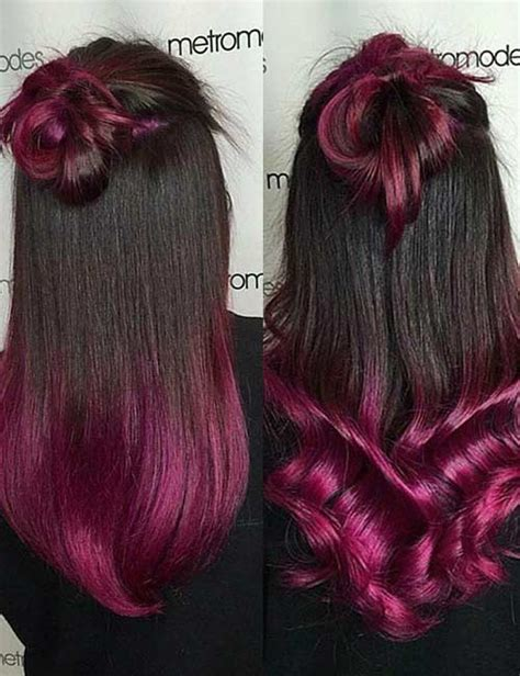 20 purple ombre hair color ideas thick hairstyles 20 breathtaking purple ombre hair color ideas blushery