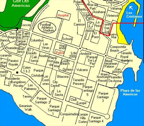 printable map tenerife tenerife property consultancy north playa de las americas