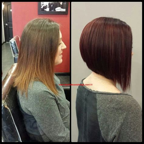 angled bob colored hair 17 best images about hair cut and color ideas on pinterest