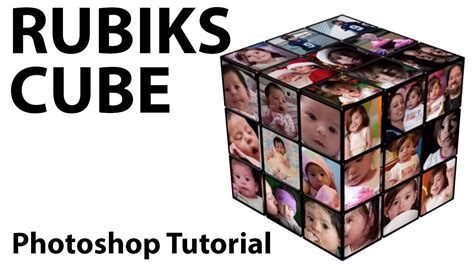 tutorial rubik square king photoshop create a rubik s cube photo frame youtube