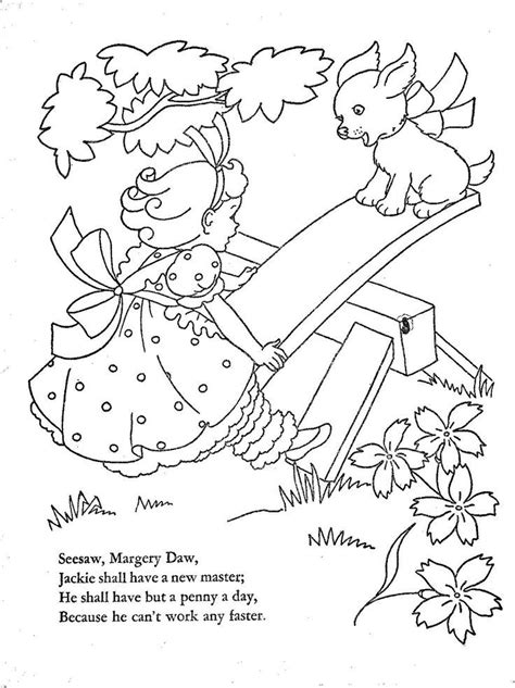 mother goose nursery rhymes coloring pages coloring home