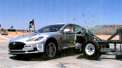 Tesla Model S Crash Test Tesla Model S Breaks The Nhtsa Crash Test Scale Tesla
