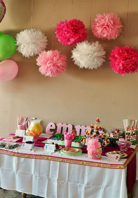 Decorate Table For Birthday by Strawberry Shortcake Birthday Dessert Table Decorations