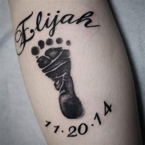 baby name tattoos for men 60 adorable baby designs for parents