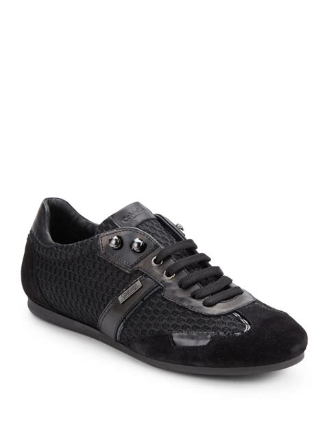 calvin klein sneakers mens calvin klein mixedmedia laceup sneakers in black for