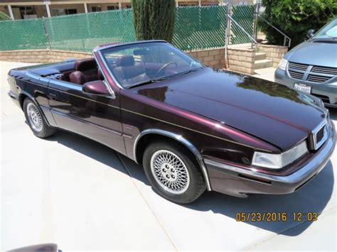Maserati Chrysler 1989 Chrysler Tc Maserati For Sale Photos Technical