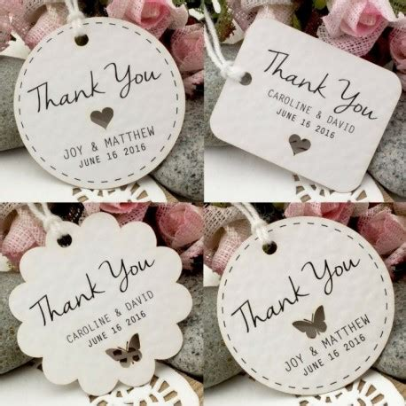 Wedding Favor by Personalized White Wedding Favor Thank You Gift Tags