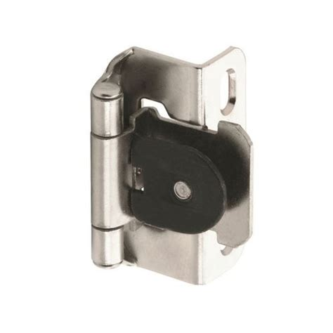 semi concealed cabinet hinges amerock single demountable 1 2 quot overlay hinge nickel pair