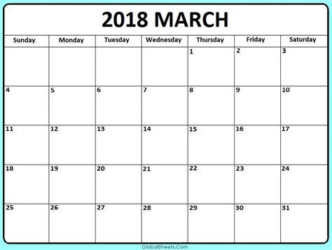 printable calendar for march 2018 march 2018 blank calendar printable