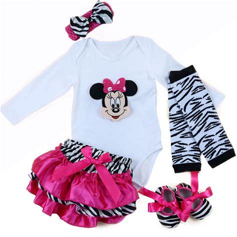 Jumper Baby Jumpsuit Bayi Perempuan Minnie Mouse Free Bandana Ok aliexpress buy 5pcs set newborn clothing set for