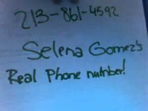 Selena gomez s real phone number youtube