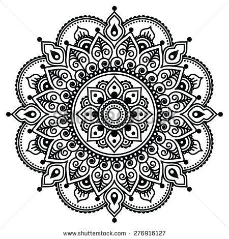henna tattoo background mehndi indian henna pattern or background by