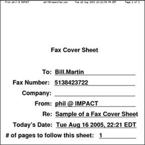 How To Make A Cover Sheet For A Paper - i fax