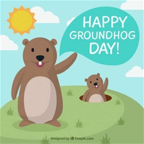 groundhog day one day groundhog mit brille illustration der