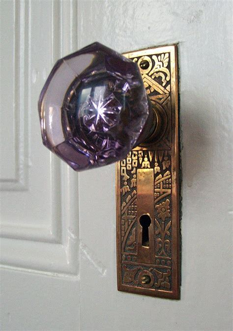 Purple Glass Door Knob Ancora Imparo Purple Doorknobs