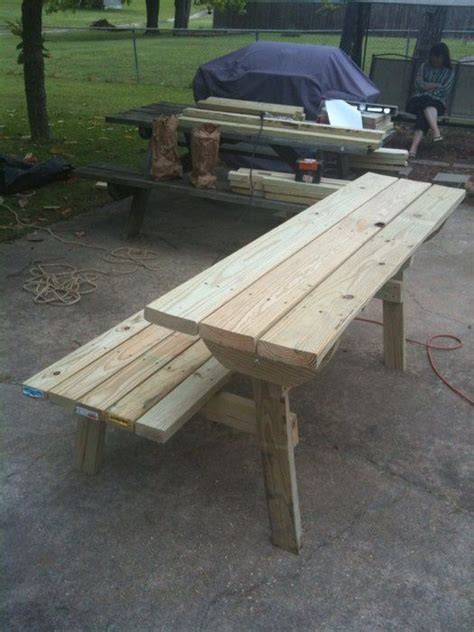 picnic table bench combination pattern  plans