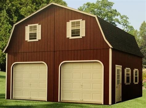 24x24 two car garage with lean to in millersville md 24x24 double wide two story barn capitol sheds