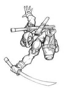 Deadpool colouring pages