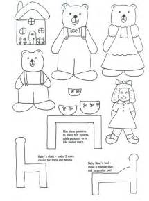 Coloring pages for goldilocks and the three bears storytime crafts