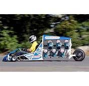 Go Kart Powered By 6 Circular Saws Slices Through UK Derby