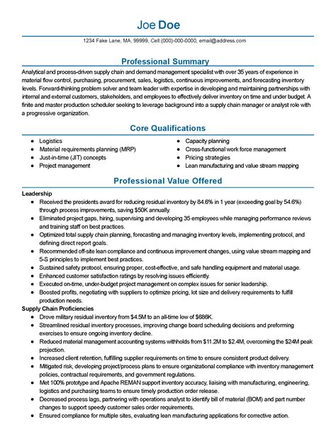 Supply Chain Consultant Sle Resume by Resume Supply Chain Manager Exle 28 Images Resume Sle 17 Supply Chain Management Resume
