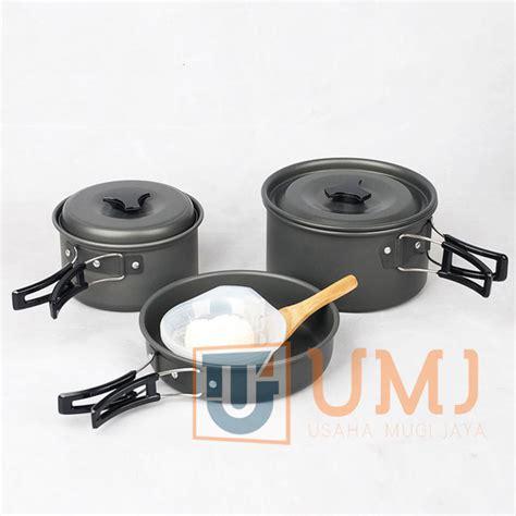 Cooking Set Ds300 2 Teko jual nesting cooking alat masak cing isi 3 set ds 300 platinum store