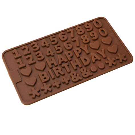 Letternumber Choc Mold birthday letters numbers chocolate mould mold 062 ebay