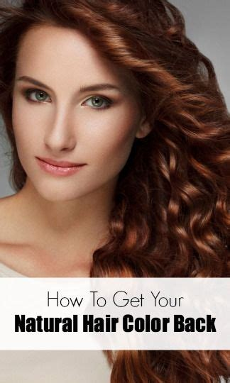How Do I Get Hair My by Ask An Expert How Do I Get My Hair Color Back
