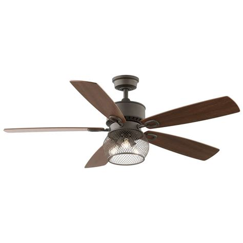 downrod mount ceiling fan 229 kichler lighting clermont 52 in satin natural bronze