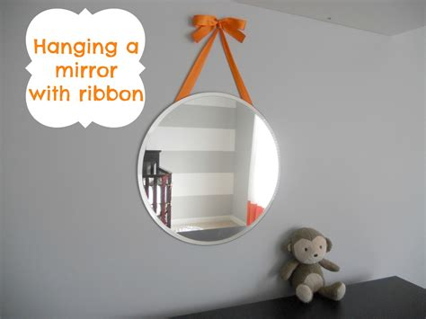 how to hang a picture decorating cents hanging a mirror with ribbon