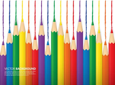 color pencil colored pencil background vector graphics
