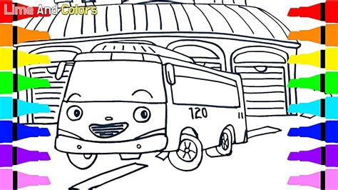 coloring page tayo tayo the little bus coloring pages coloring page