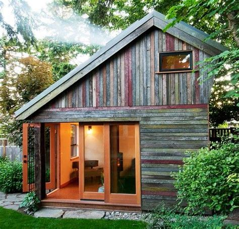 building a guest house in your backyard rustic and beautiful backyard micro house is built from