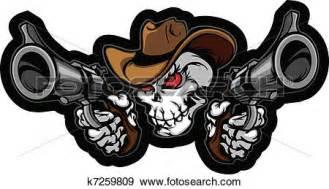 Cowboy Wall Murals clip art of skull cowboy aiming guns k7259809 search