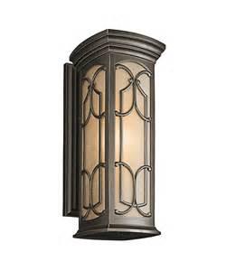 kitchler outdoor lighting kichler 49228 franceasi 1 light outdoor wall light