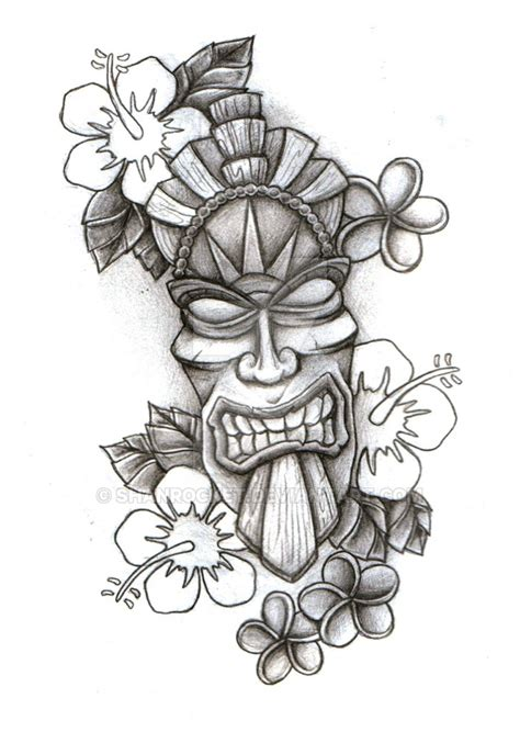 tiki head tattoo designs tiki mask sketch by shanrocket on deviantart