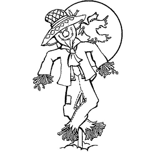 pumpkin scarecrow coloring pages scarcrow color sheet free printable scarecrow coloring