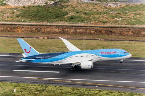 thomson airways plane take from phuket airport editorial image image of airplane cargo