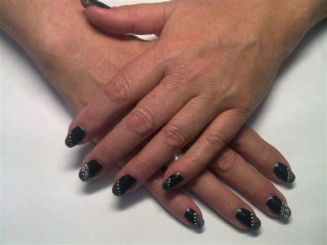 gelnagels zwart nail 2 kleuren zwart fotogallerij nagelstudio
