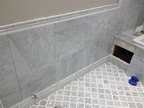 carrara marble tile bathroom edmonton tile install white marble bathroom river city