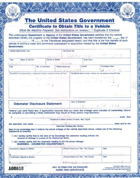 Car Title Types by Title For Car Free Printable Documents