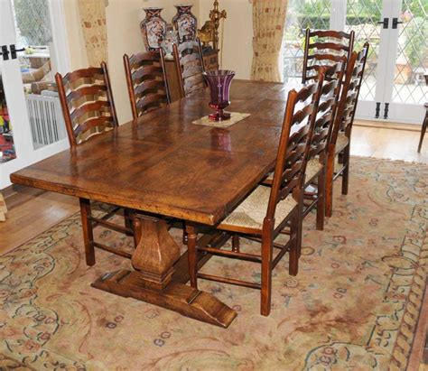 Country Kitchen Tables And Chairs Sets Country Refectory Table And Ladderback Chair Dining Set