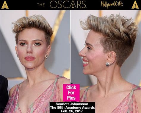 scarlettjohanssonhaircut at the oscars scarlett johansson s rockabilly chic hairstyle at the