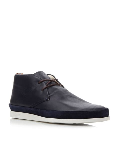 paul smith loomis white sole chukka boots in black for